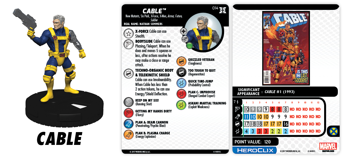 Marvel HeroClix: Deadpool & X-Force - Cable