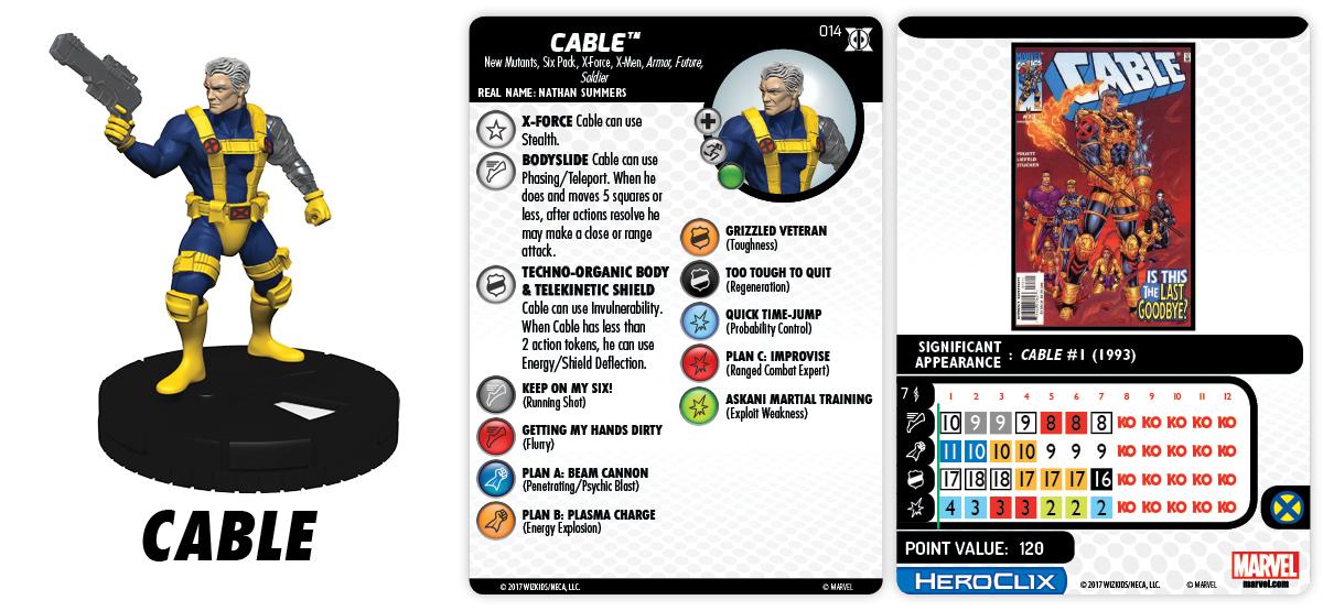 Marvel HeroClix: Deadpool & X-Force - Cable
