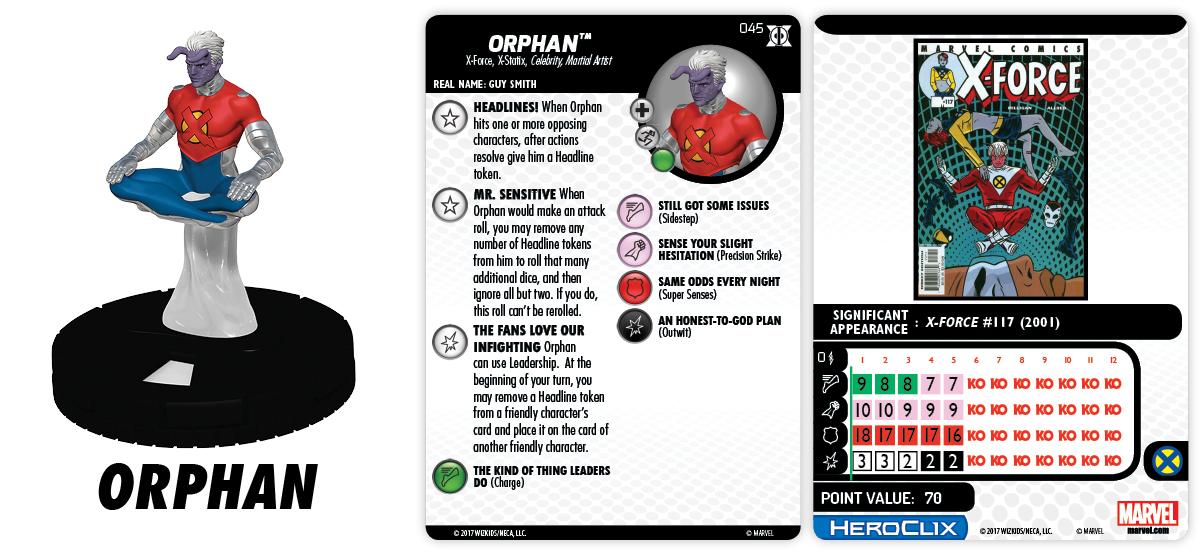 Marvel HeroClix: Deadpool & X-Force - Orphan