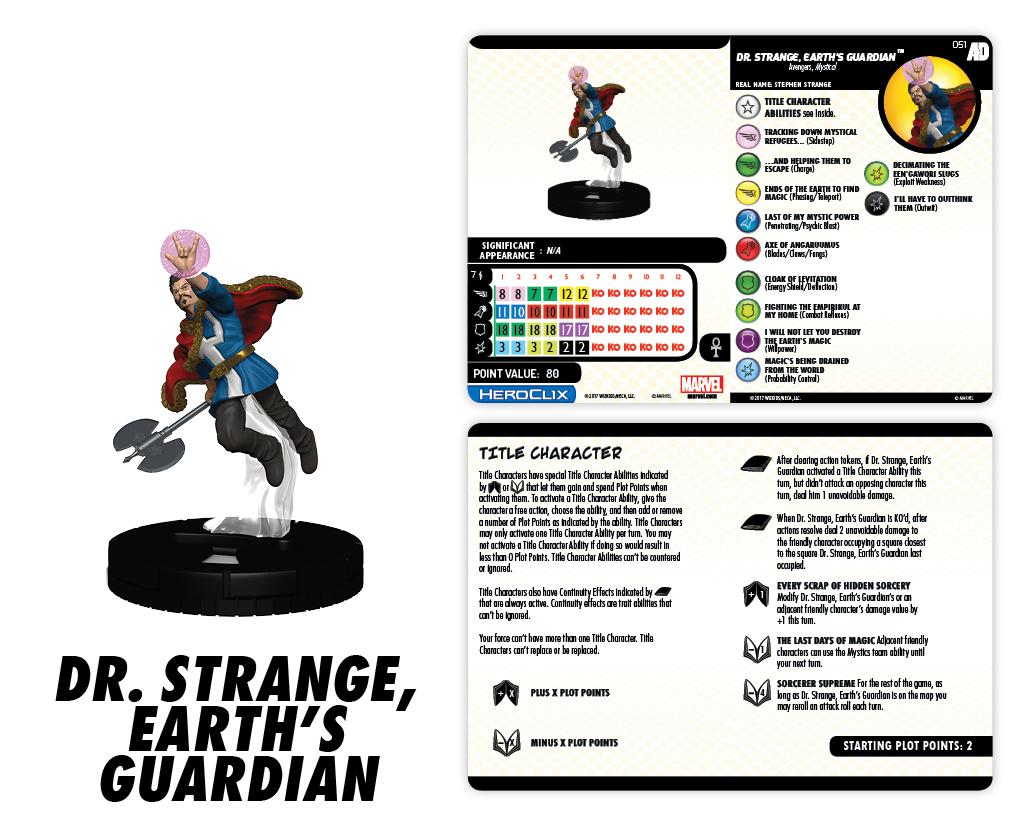 Marvel HeroClix: Avengers/Defenders War - Dr. Strange, Earth's Guardian