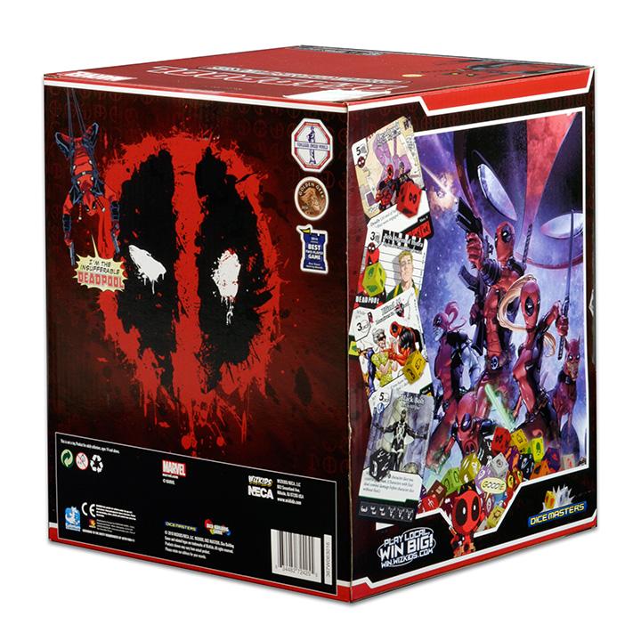 Marvel Dice Masters Deadpool 4 dice WOLVERINE RARE Uncommon Set CUR
