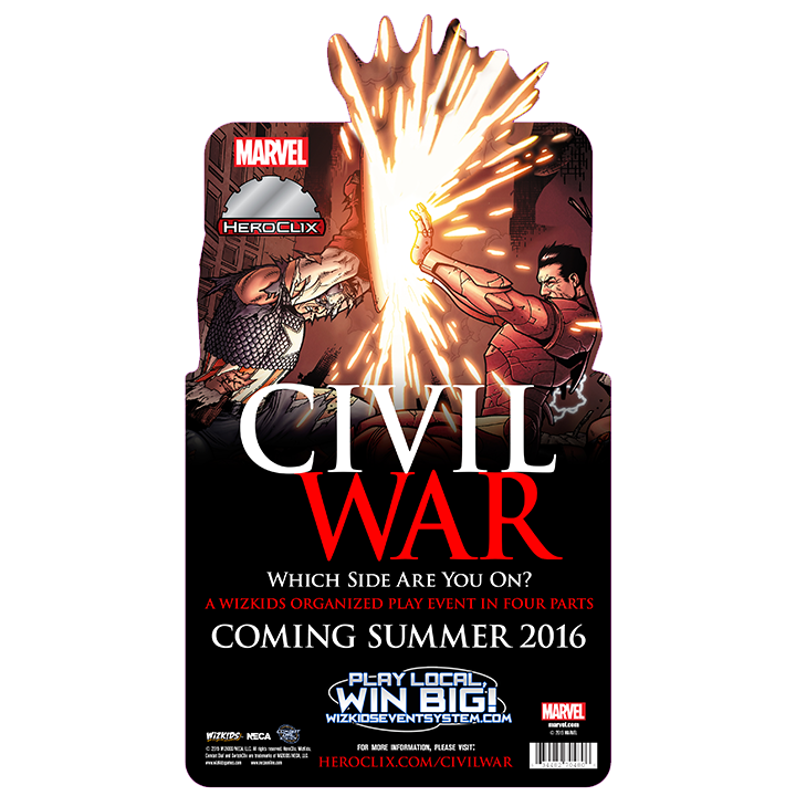 Marvel HeroClix: Civil War Storyline Organized Play Series | HeroClix