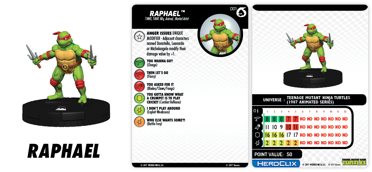 Teenage Mutant Ninja Turtles HeroClix: Shredder's Return - Fast Forces Raphael