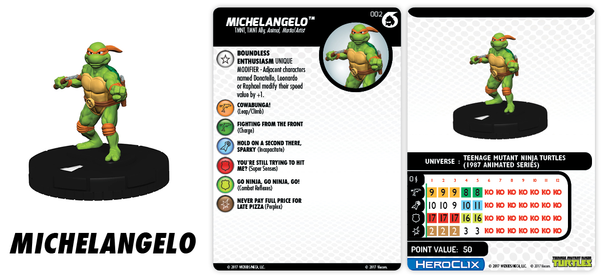 Teenage Mutant Ninja Turtles HeroClix: Shredder's Return - Fast Forces Michelangelo