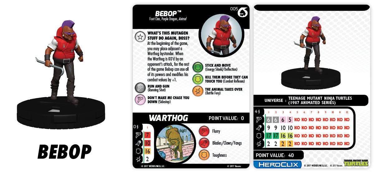TMNT HeroClix: Shredder's Return – Fast Forces Part II - Bebop