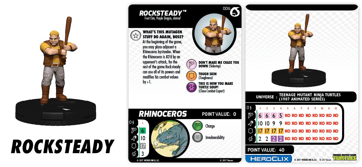 TMNT HeroClix: Shredder's Return – Fast Forces Part II - Rocksteady