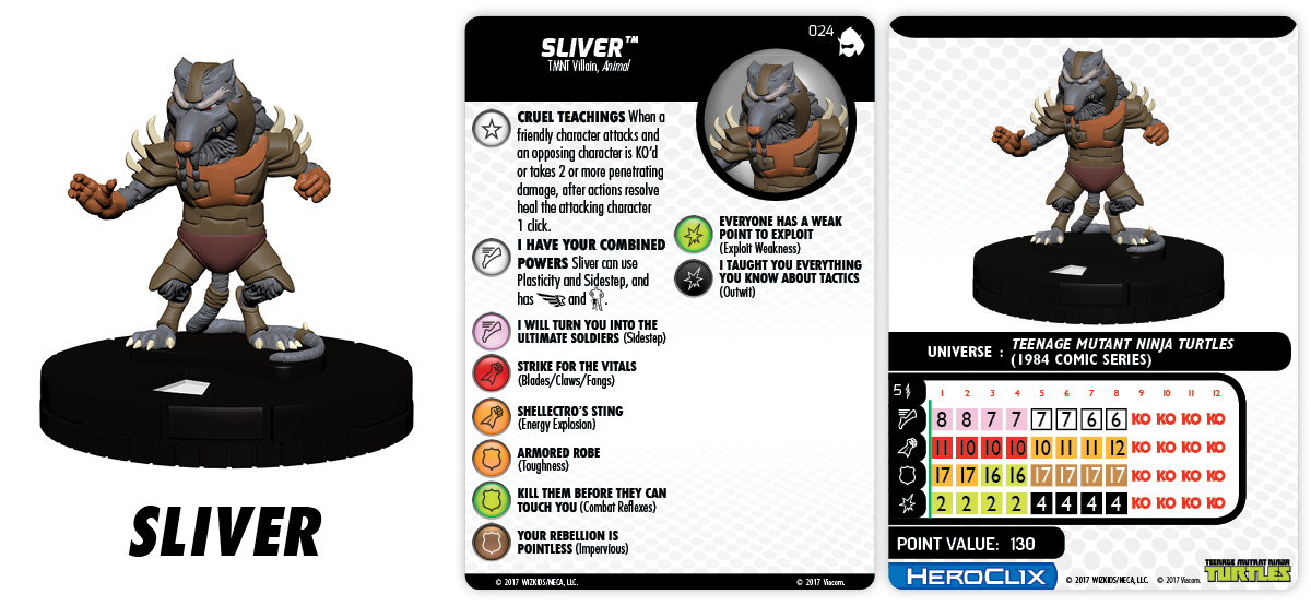 TMNT HeroClix: Shredder's Return - Sliver