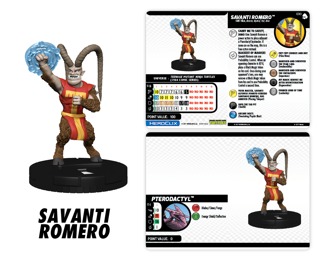 Teenage Mutant Ninja Turtles HeroClix: Shredder's Return - Savanti Romero