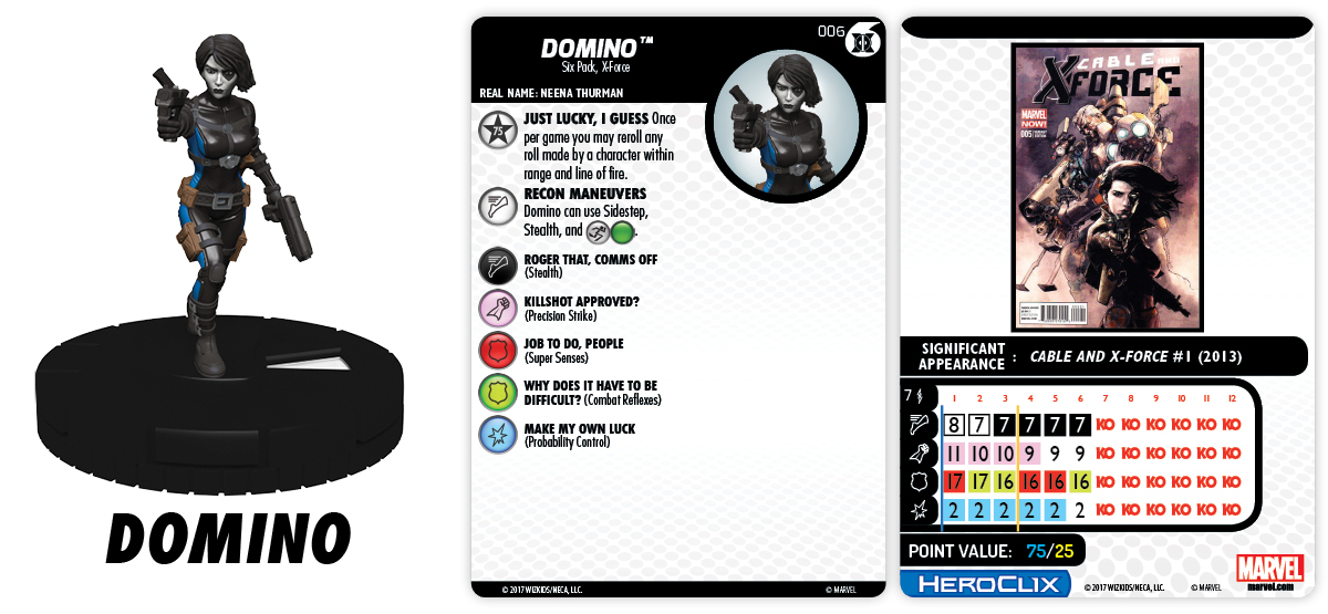 Marvel HeroClix: Uncanny X-Force Fast Forces Pack - Domino