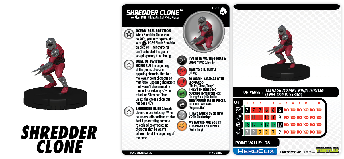 TMNT HeroClix: Shredder's Return - Shredder Clone