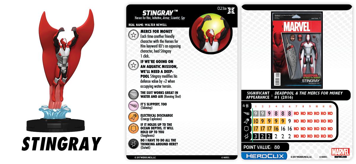 Marvel HeroClix: Deadpool & X-Force - Stingray