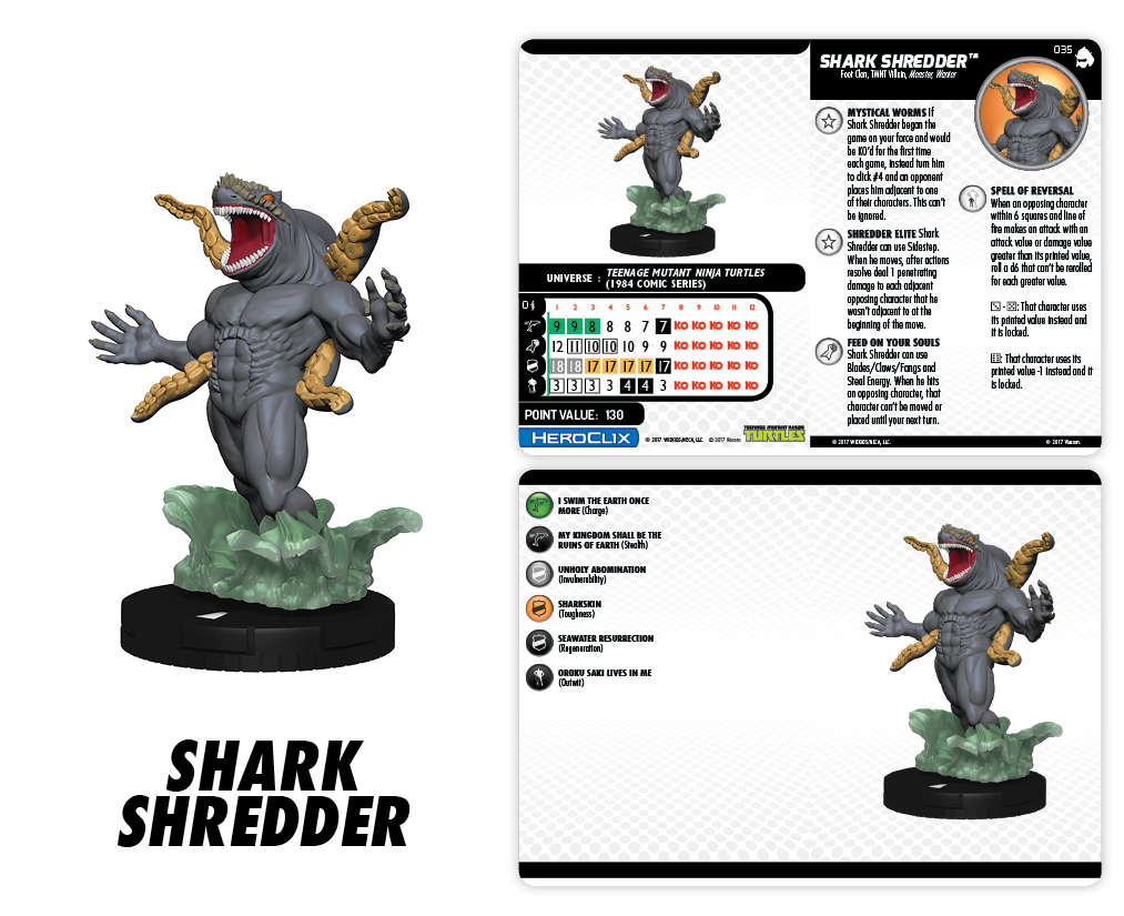 TMNT HeroClix: Shredder's Return - Shark Shredder