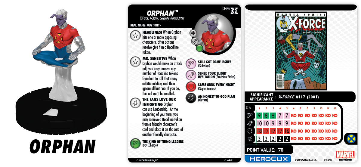 Marvel HeroClix: Deadpool & X-Force - Orphan