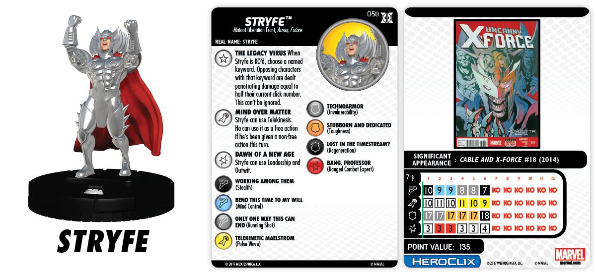 Marvel HeroClix: Deadpool & X-Force - Stryfe