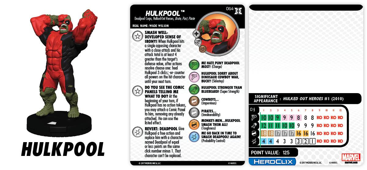 Marvel HeroClix: Deadpool & X-Force - Hulkpool