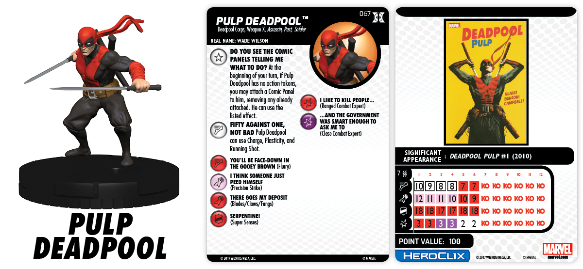 Marvel HeroClix: Deadpool & X-Force - Pulp Deadpool