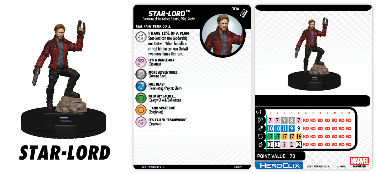 Marvel HeroClix: Guardians of the Galaxy v2 Movie – Star-Lord