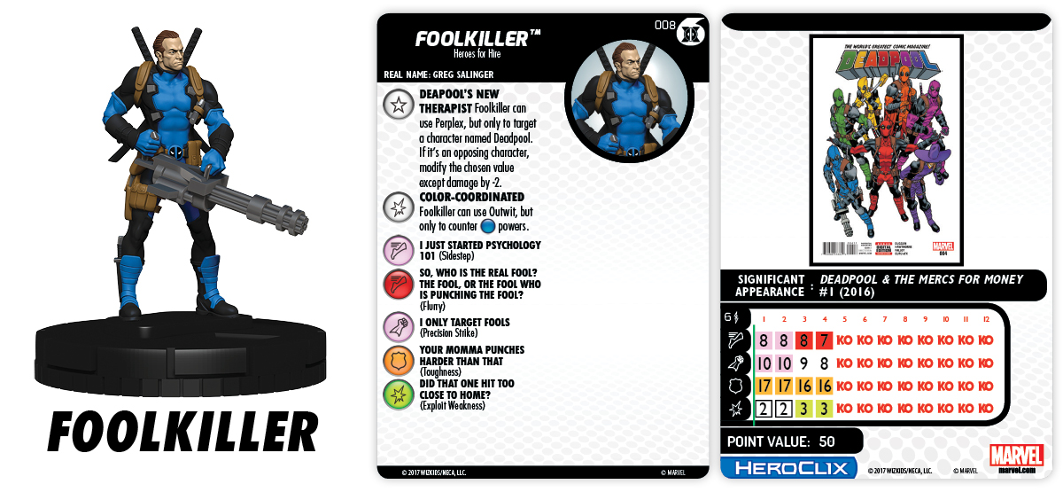 Marvel HeroClix: Merc$ for Money Fast Forces - Foolkiller