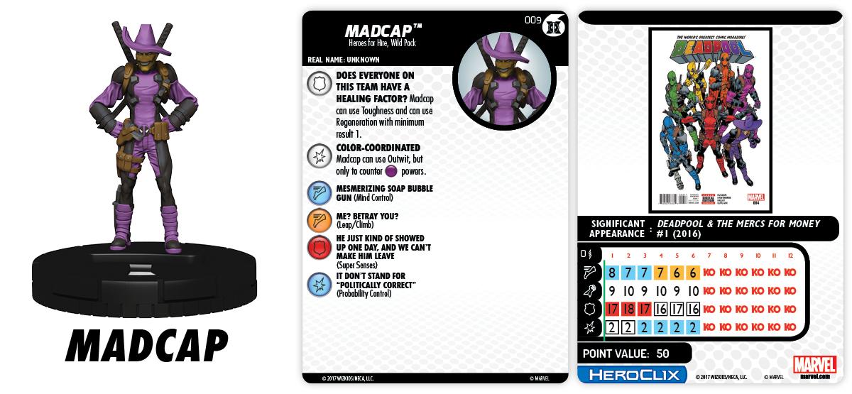 Marvel HeroClix: Merc$ for Money Fast Forces - Madcap