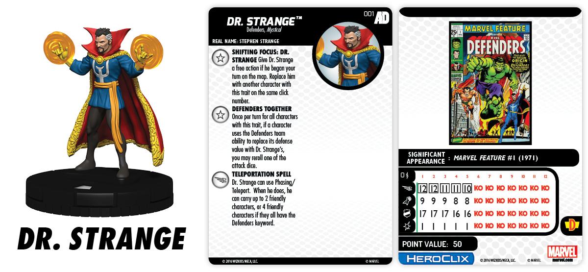 Marvel HeroClix: Avengers/Defenders War - Dr. Strange 001