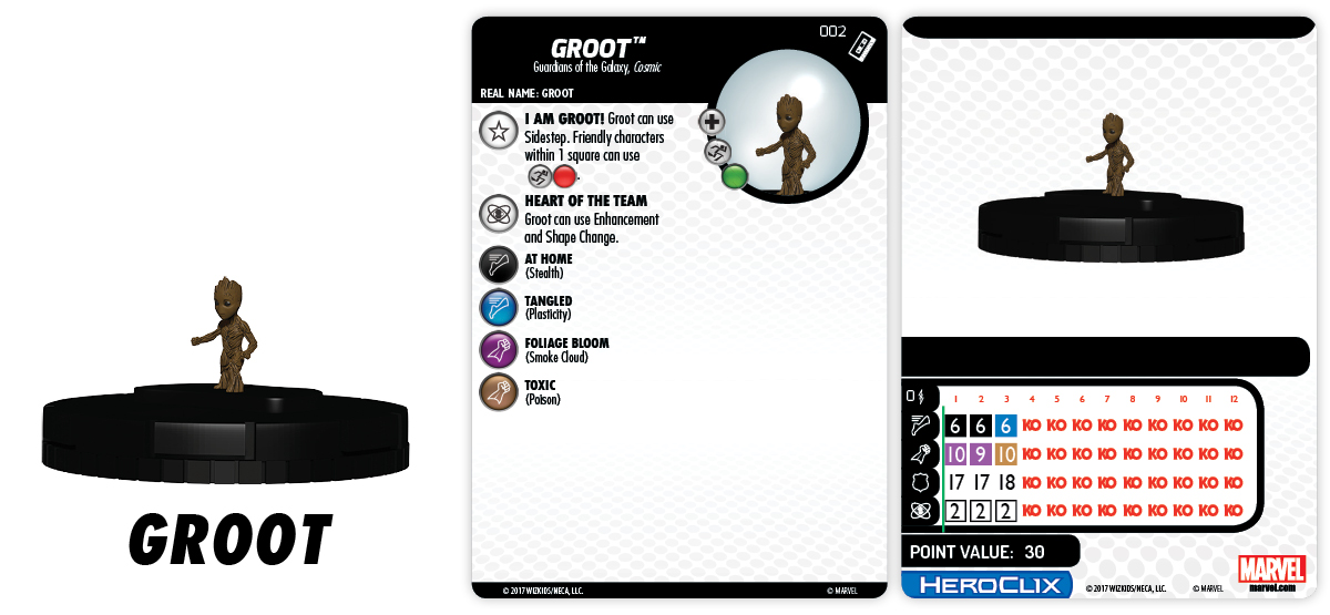 Marvel HeroClix: Guardians of the Galaxy v2 Movie – Groot