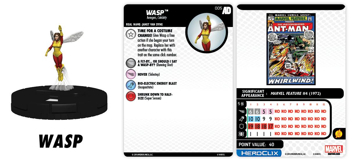 Marvel HeroClix: Avengers/Defenders War - Shifting Focus - Wasp 005