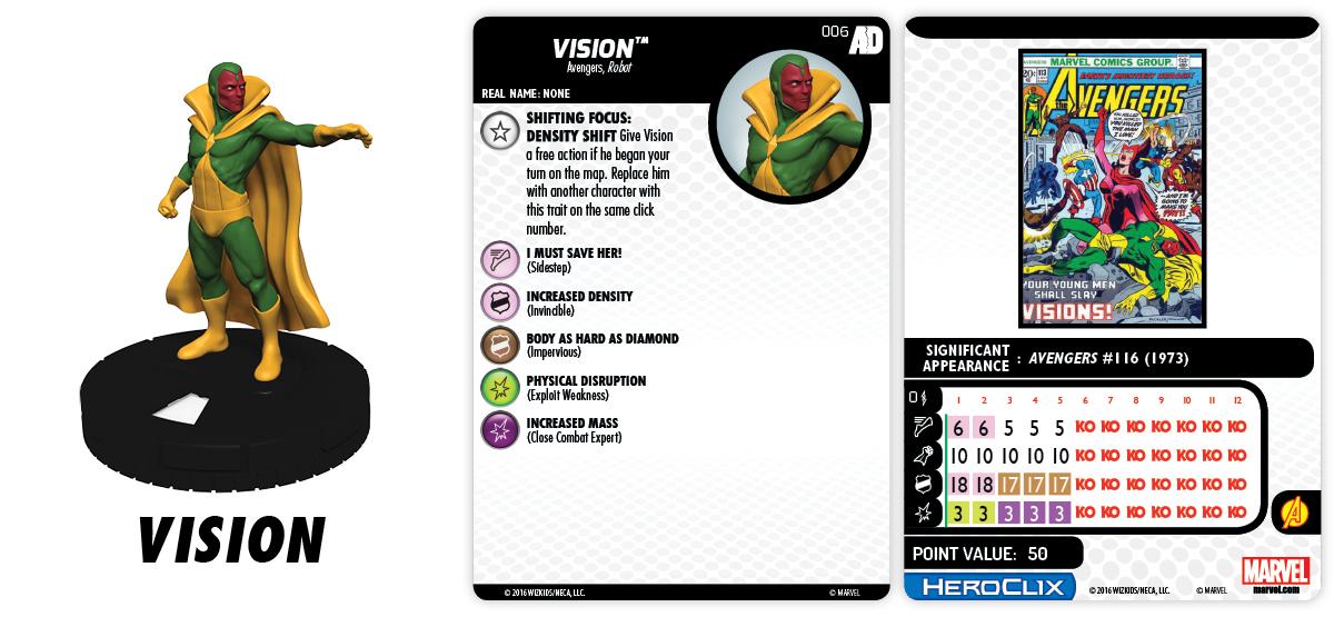 Marvel HeroClix: Avengers/Defenders War - Shifting Focus - Vision 006