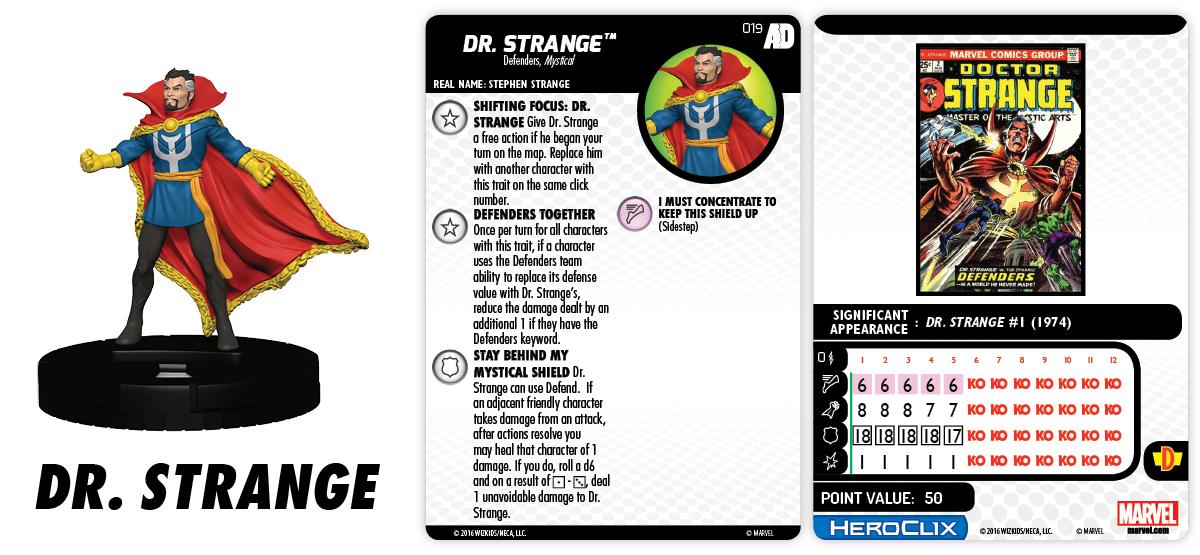 Marvel HeroClix: Avengers/Defenders War - Dr. Strange 019