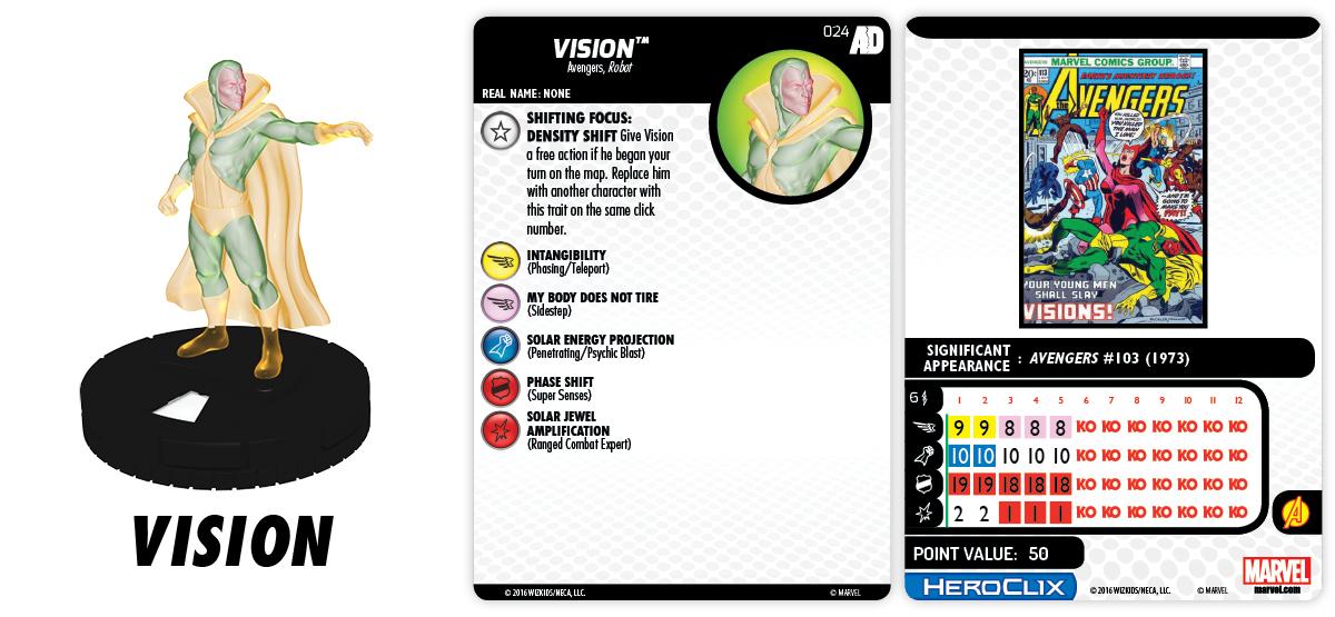 Marvel HeroClix: Avengers/Defenders War - Shifting Focus - Vision 024