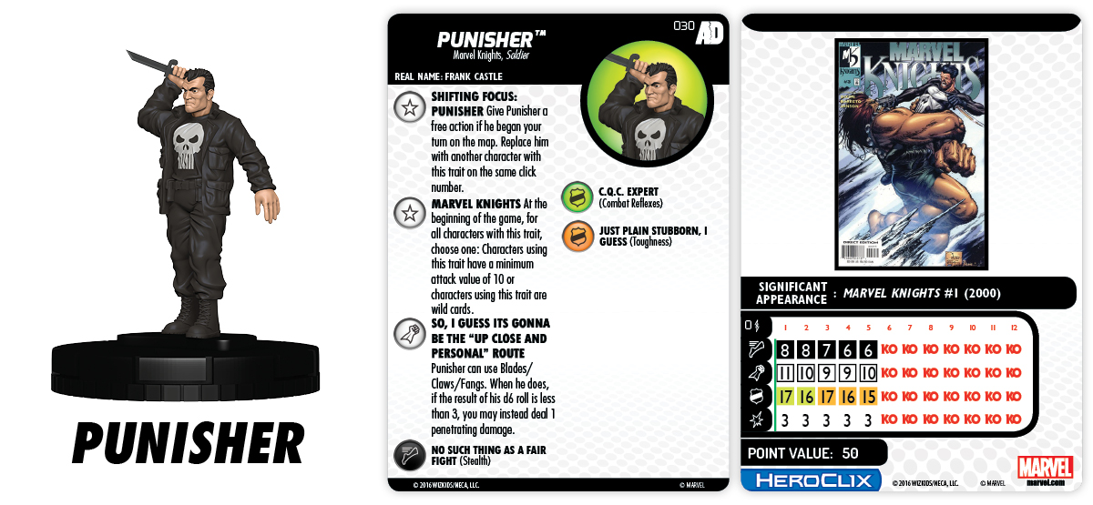 Marvel HeroClix: Avengers/Defenders War - Shifting Focus - Punisher 030