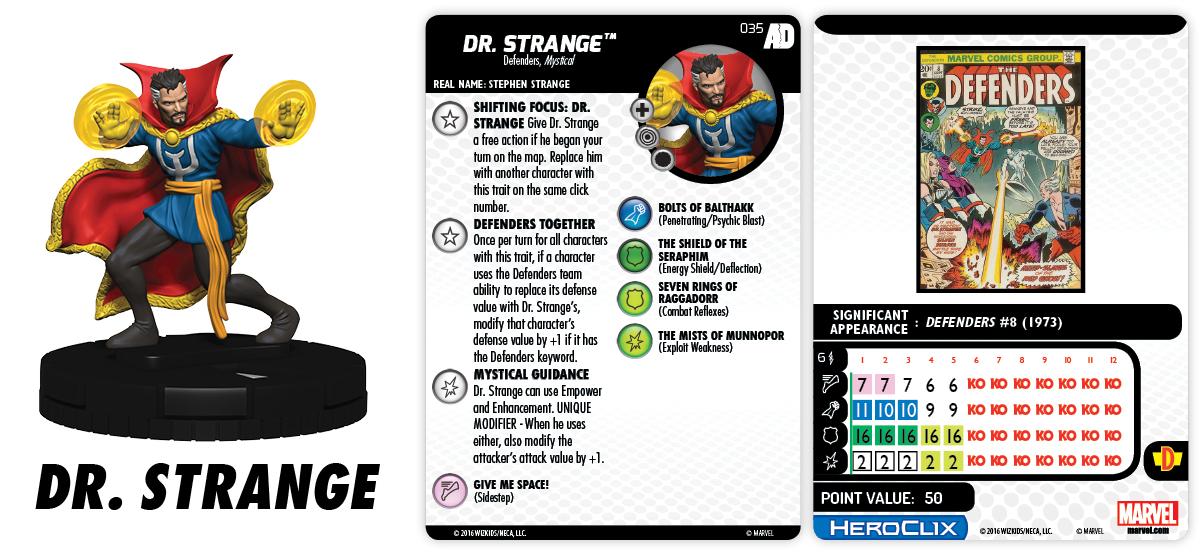 Marvel HeroClix: Avengers/Defenders War - Dr. Strange 035
