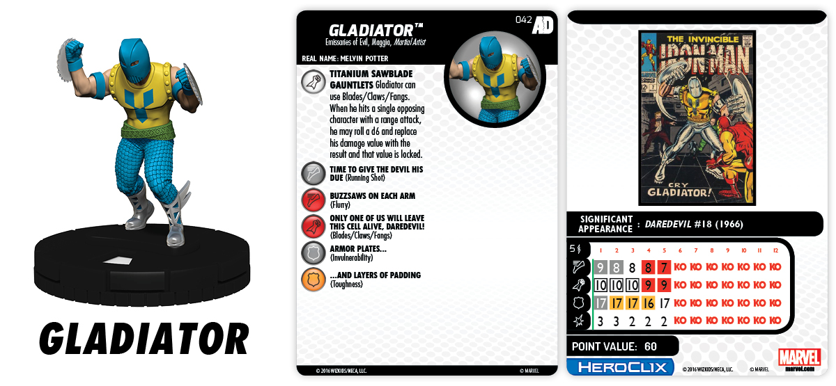 Marvel HeroClix: Avengers/Defenders War - Gladiator