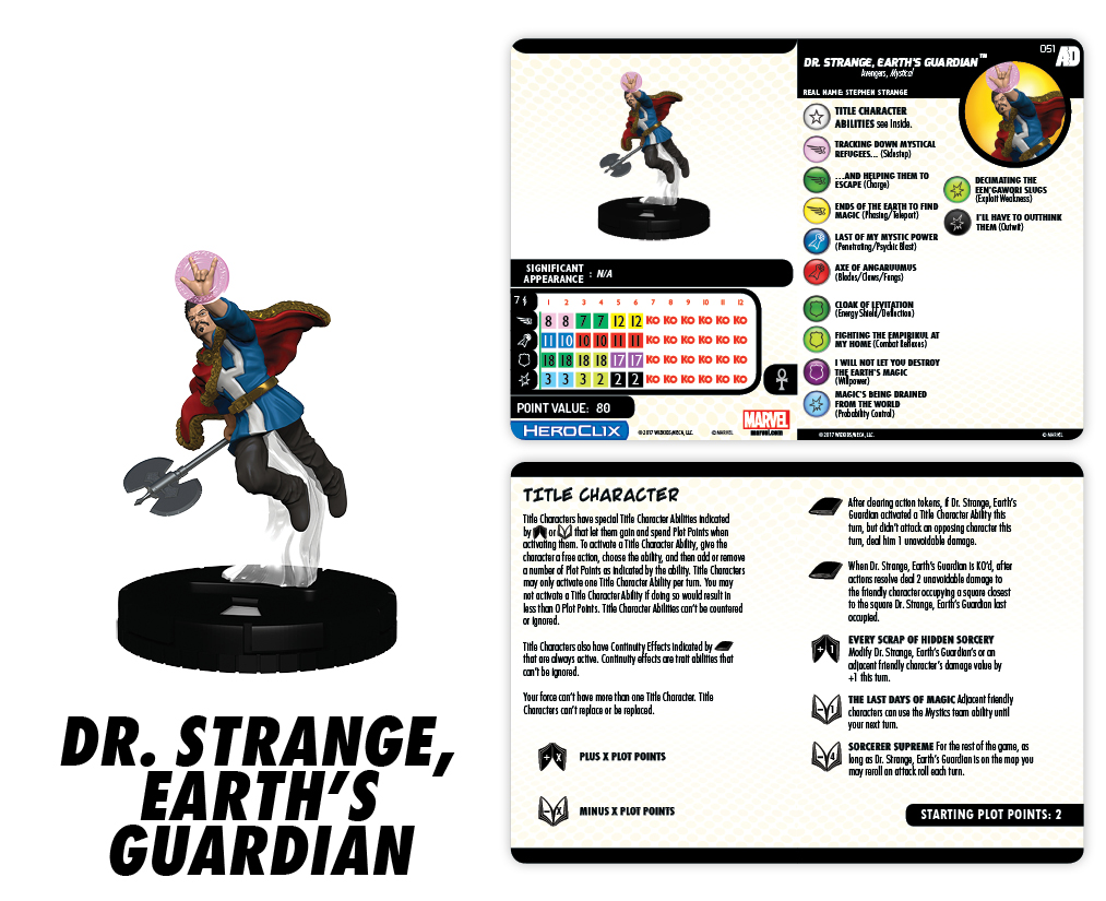 Marvel HeroClix: Avengers/Defenders War - Dr. Strange, Earth's Guardian