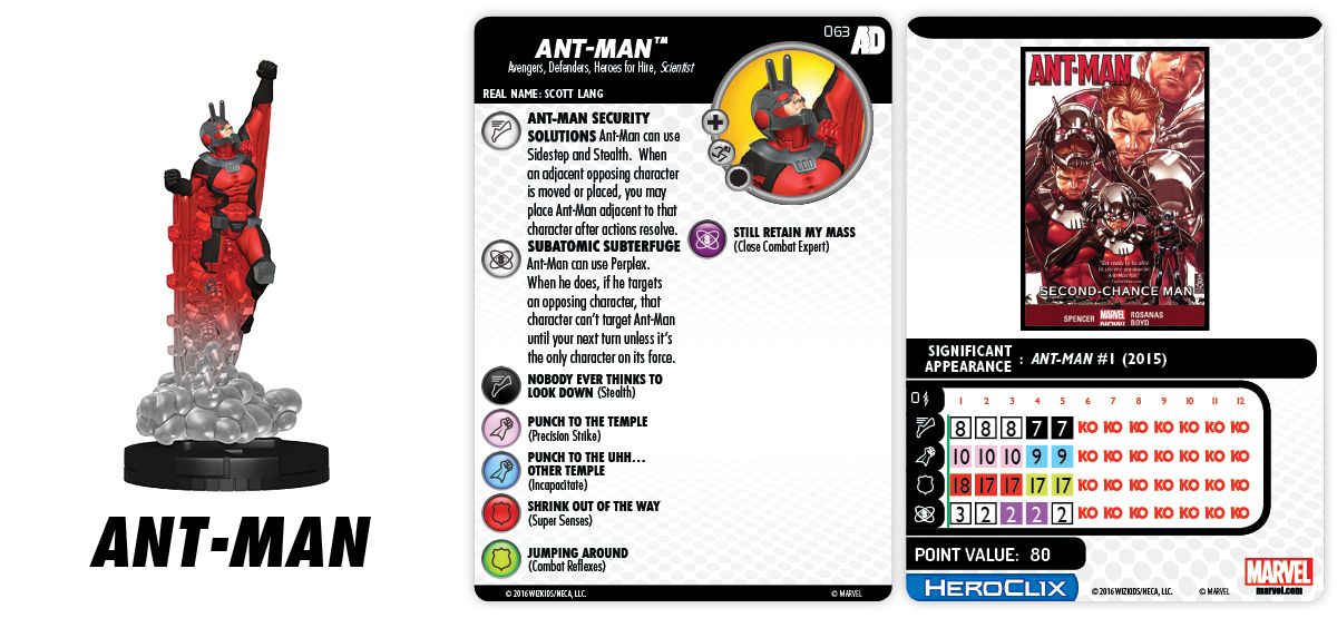 Marvel HeroClix: Avengers/Defenders War - Ant-Man