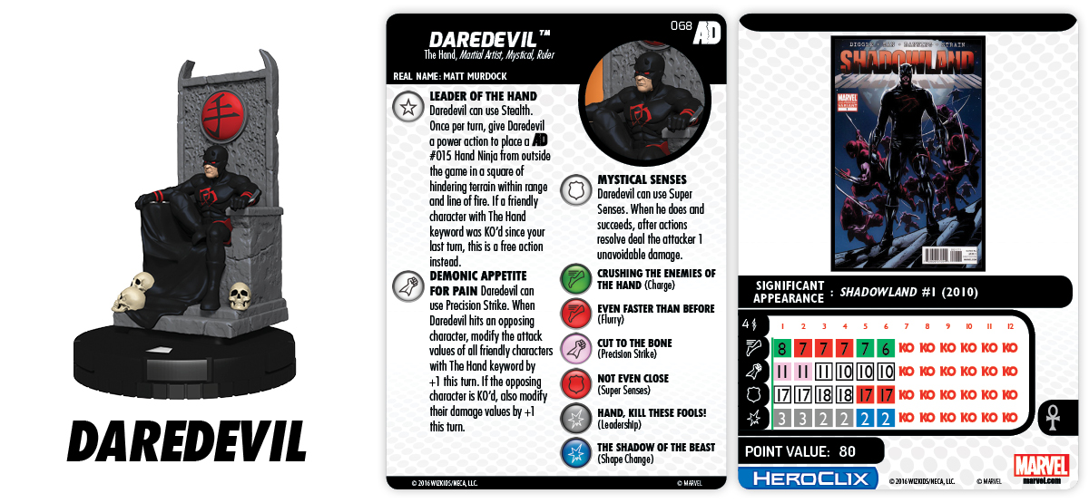 Marvel HeroClix: Avengers/Defenders War - Daredevil