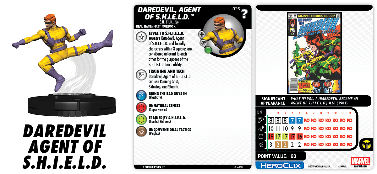 Marvel HeroClix: 15th Anniversary - What If? - Daredevil, Agent of S.H.I.E.L.D.
