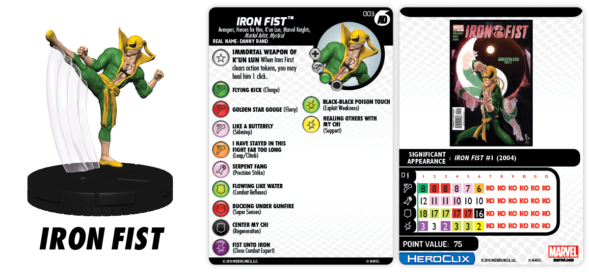 Marvel HeroClix: Marvel Knights Fast Forces Part II - Iron Fist