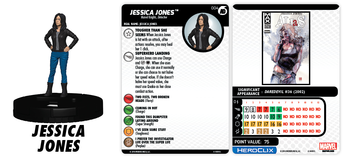 Marvel HeroClix: Marvel Knights Fast Forces Part II - Jessica Jones