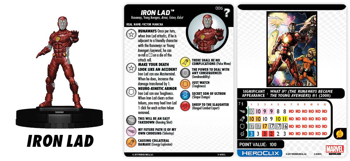 Marvel HeroClix: What If? - Runaways - Iron Lad
