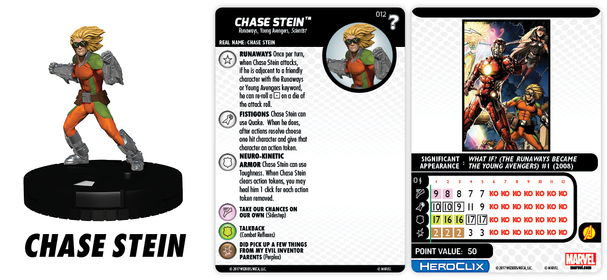 Marvel HeroClix: What If? - Runaways - Chase Stein