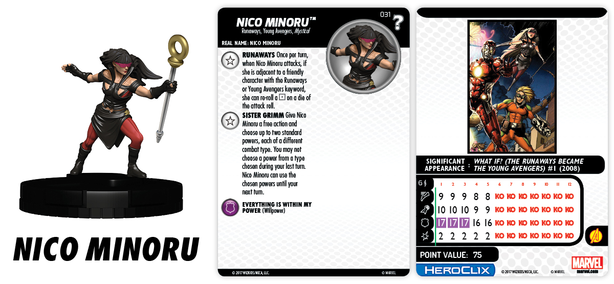 Marvel HeroClix: What If? - Runaways - Nico Minoru