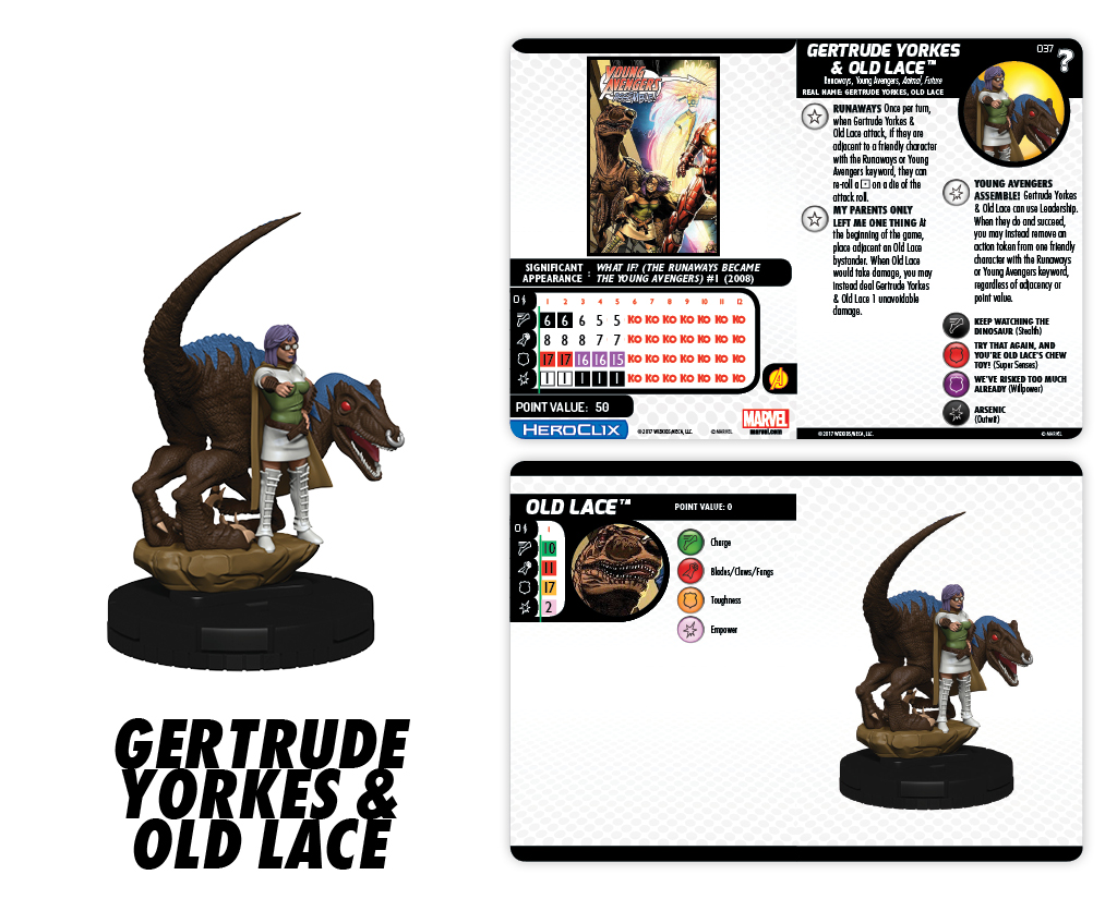 Marvel HeroClix: What If? - Runaways - Gertrude Yorkes & Old Lace