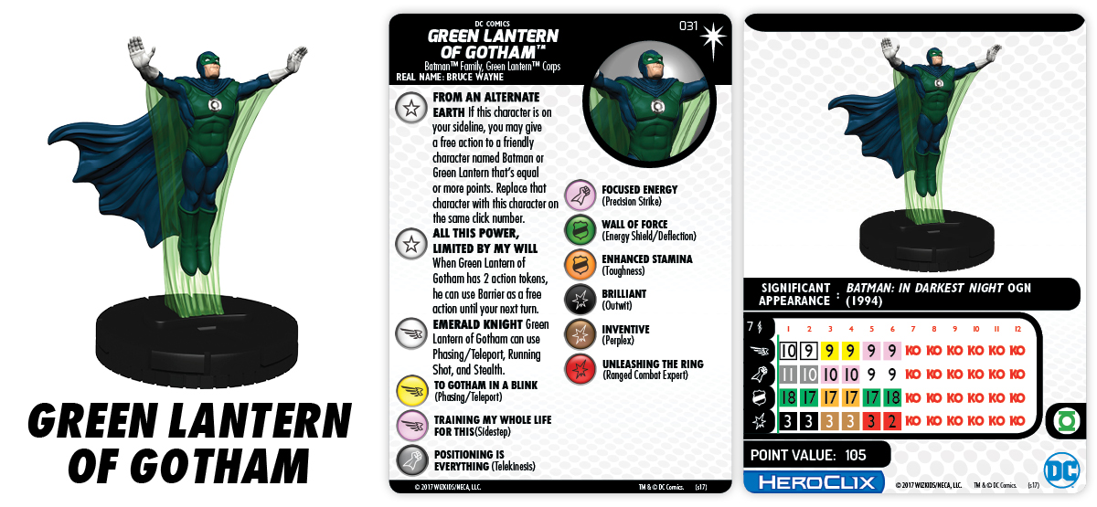 DC Comics HeroClix: 15th Anniversary - Elseworlds - Green Lantern of Gotham