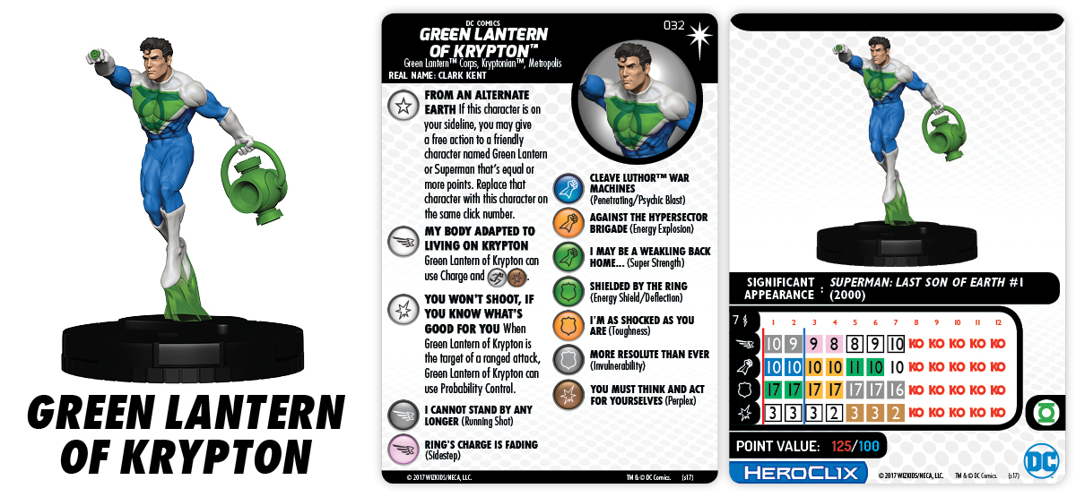 DC Comics HeroClix: 15th Anniversary - Elseworlds - Green Lantern of Krypton