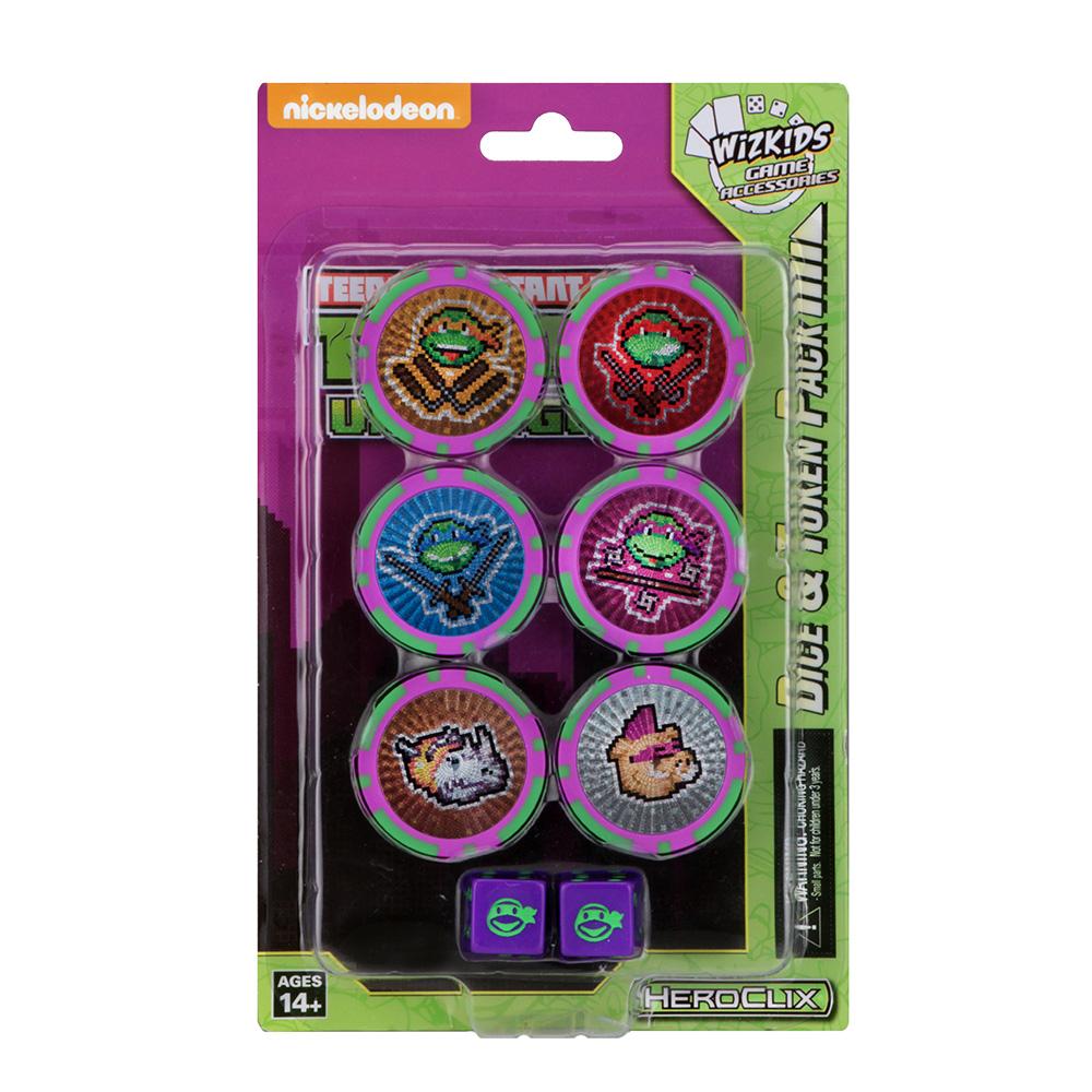 Heroclix TMNT Turtles Unplugged Series 4 Dice /& Token Pack