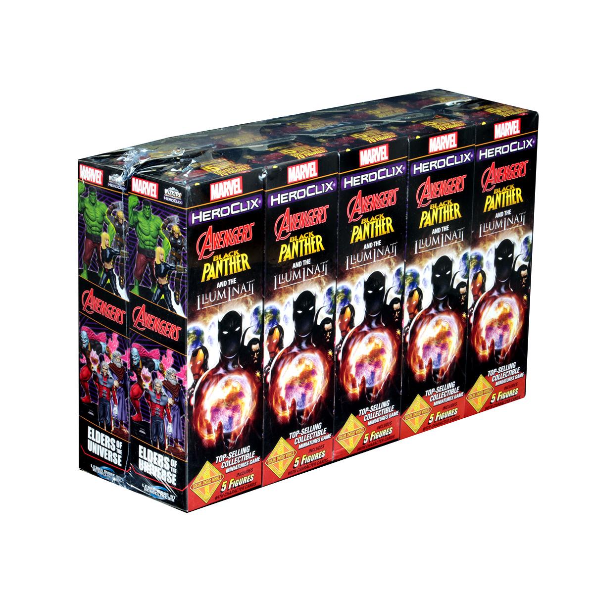 Heroclix Black Panther /& The Illuminati Booster Brick 10 ct. Token Pack