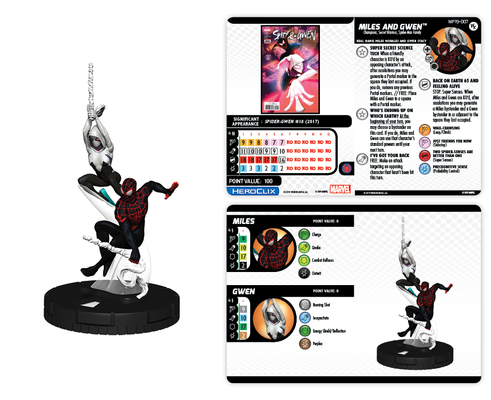 Convention Exclusive 2019 Marvel HeroClix: Spider-Verse Duo Miles and Gwen