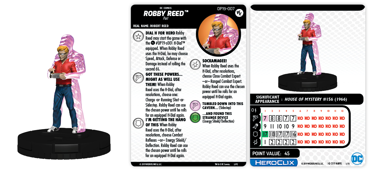 Convention Exclusive 2019 DC Comics HeroClix: Robby Reed & H-Dial
