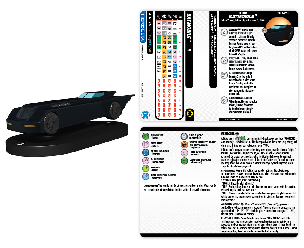 DC Comics HeroClix: Batmobile [Batman The Animated Series]