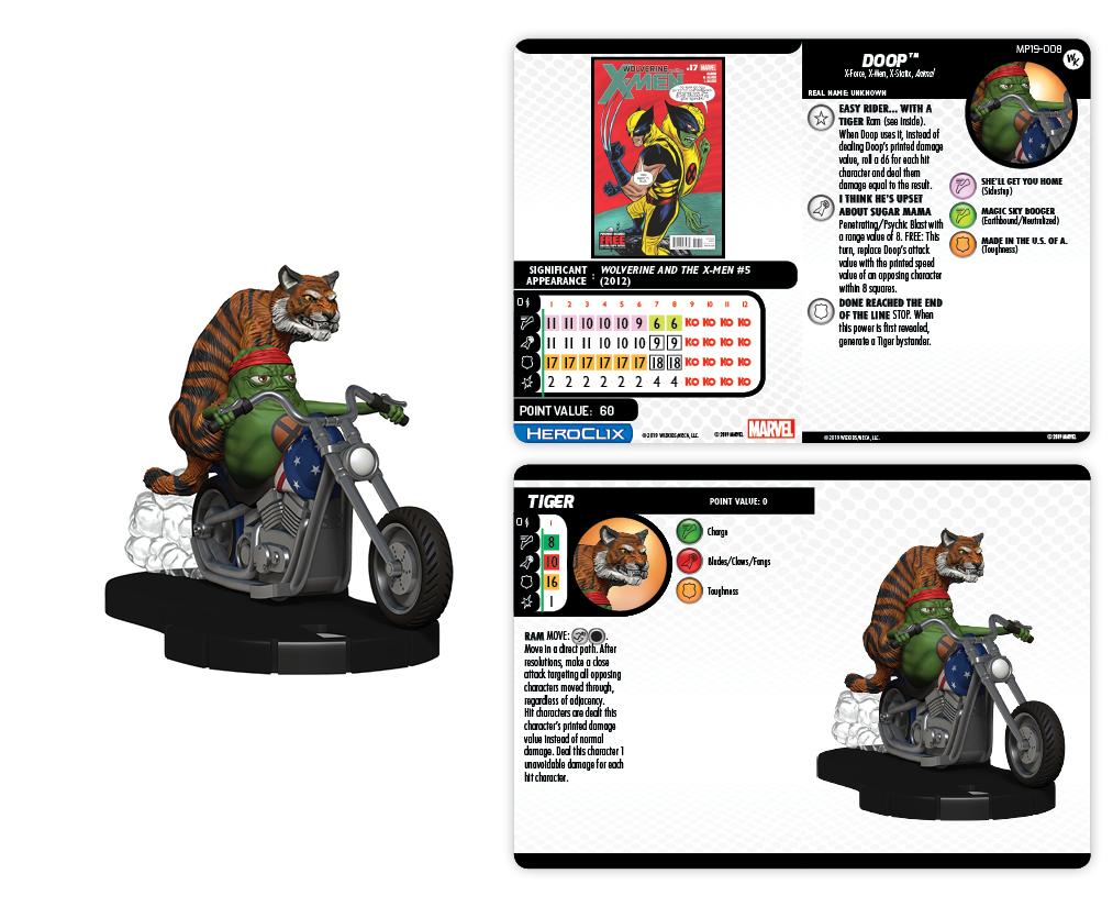 Marvel HeroClix: Doop on Motorcycle w/ Tiger